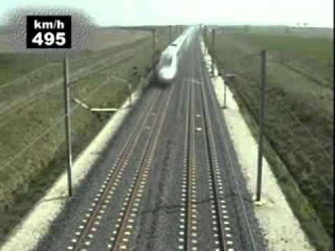 The world's fastest train, Circling a 574.8 KM / H TGV
