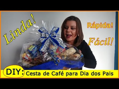 Imagens de dia dos pais - DIY: Presente Dia dos Pais - Cesta de Café da Manhã
