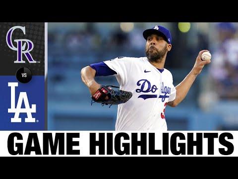 Rockies vs. Dodgers Game Highlights (8/28/21)   MLB Highlights