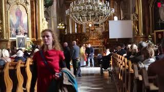 Reakcja wiernych na odczytywanie listu Prezydium Konferencji Episkopatu Polski o aborcji.
