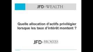 Quelle allocation d'actif faut-il privilégier lorsque les taux directeurs montent ?