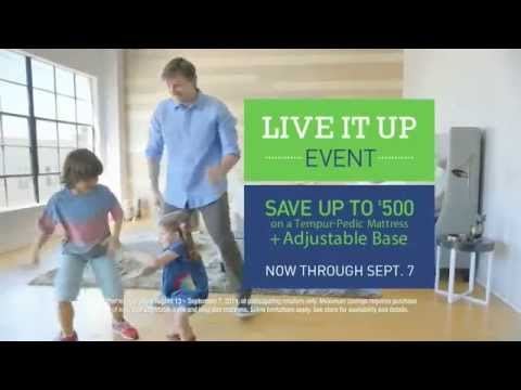 TV Spot - Tempur Pedic Live It Up Event - My Tempur Pedic - Feel The Difference