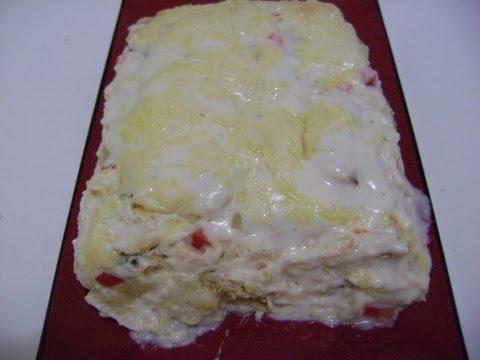 TORTA DE FRANGO com pão de forma