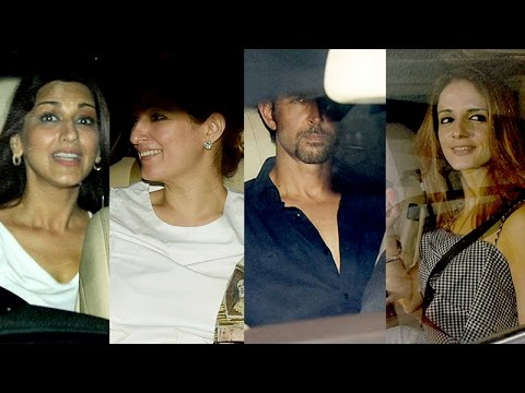 Video Hrithik Roshan and ex-wife Sussanne Khan party with Twinkle Khanna download in MP3, 3GP, MP4, WEBM, AVI, FLV January 2017