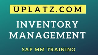 Configuration of Inventory Management | SAP MM | SAP Materials Management Training and Certification