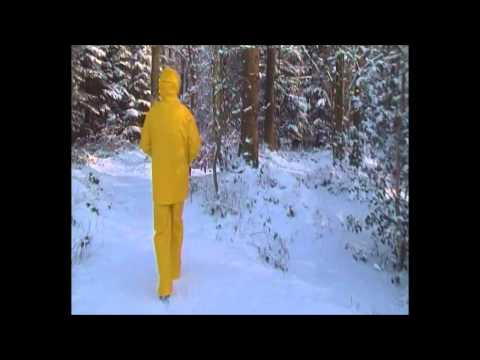 yellow rainwear lady