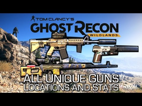 Ghost Recon Wildlands - All Unique Weapons (Secret Boss Guns) - Locations, Stats & Shooting