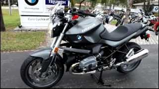 10. 2012 BMW R1200R Low in Grey at Euro Cycles of Tampa Bay