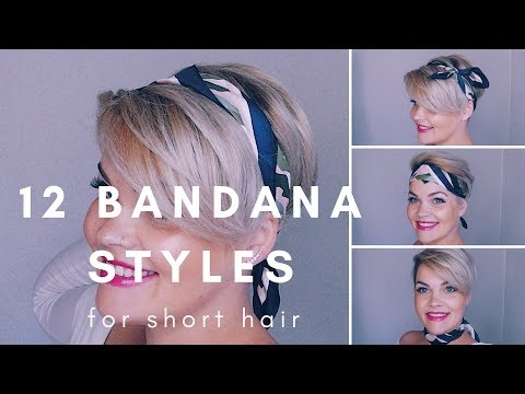 Short hair styles - 12 Bandana Styles for Short Hair