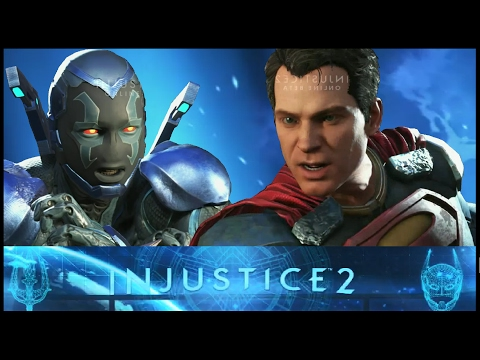 Injustice 2: Blue Beetle vs Superman Interactions and Clashes (Beta) (HD) (PS4)