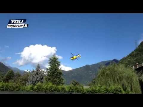Elicottero del 118 precipita, il video dello schianto