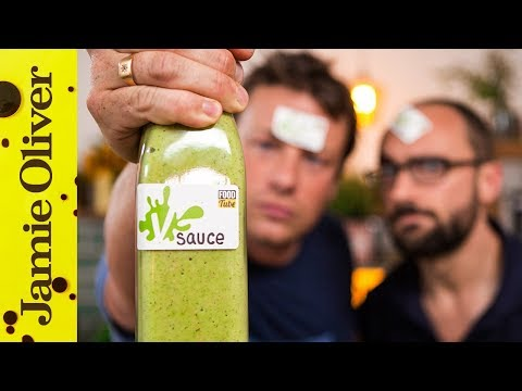 """Jamie Oliver actually made """"Vsauce"""" - a real life sauce based on the educational video series."""