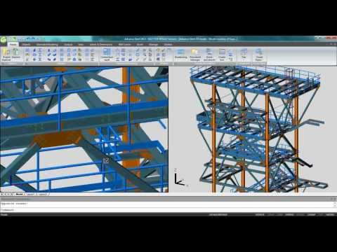 video direct link between advance steel and bim review from acecad civil engineering. Black Bedroom Furniture Sets. Home Design Ideas