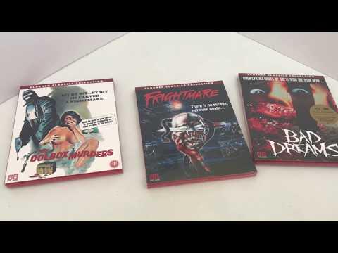 88 Films - Frightmare, The Toolbox Murders, Bad Dreams Blu Rays