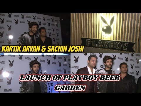 Kartik Aaryan & Sachiin J Joshi At The Launch Of Playboy Beer Garden in Pune