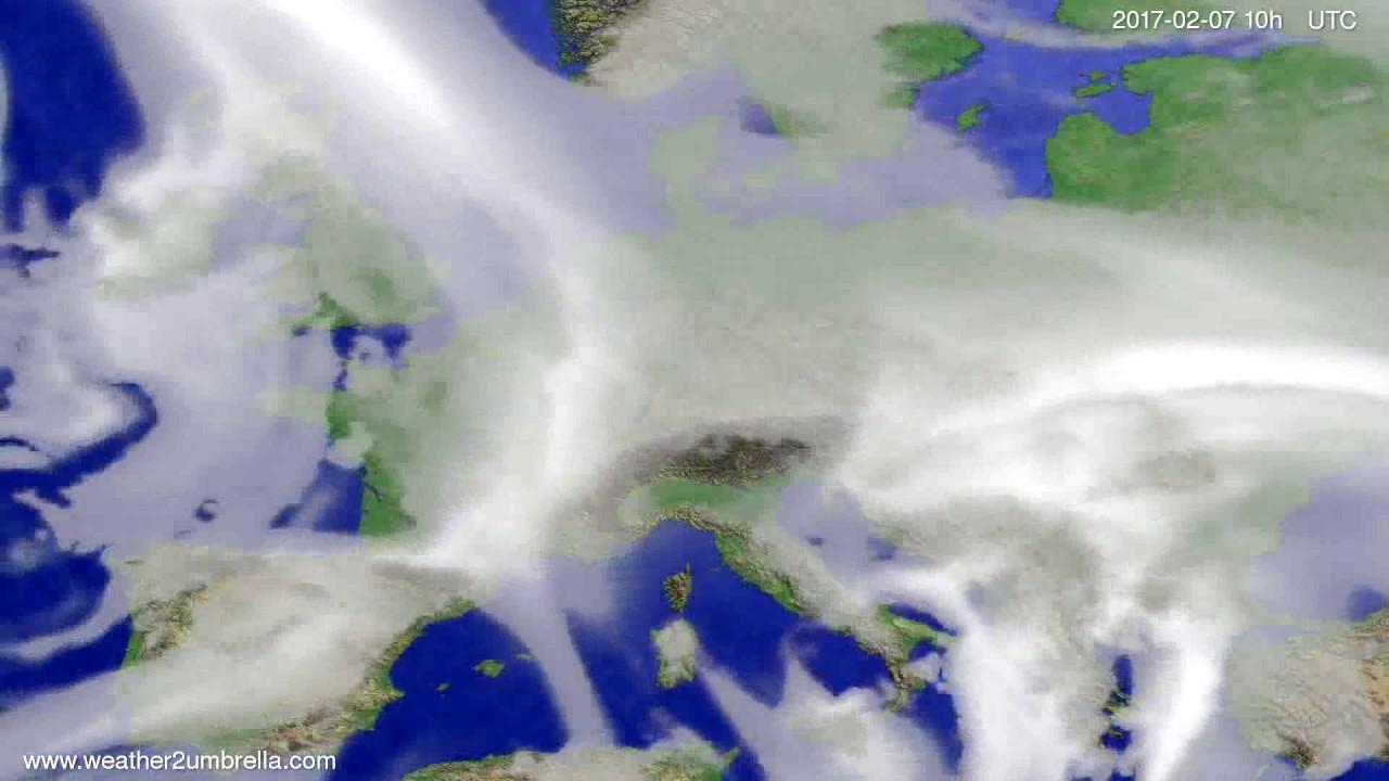 Cloud forecast Europe 2017-02-05