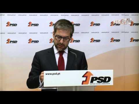 Declaração de Marco António Costa durante o Conselho Nacional
