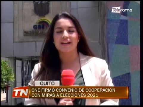 CNE firmó convenio de cooperación con miras a elecciones 2021