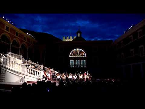 First summer concert by Monte-Carlo Philharmonic Orchestra at Prince's Palace