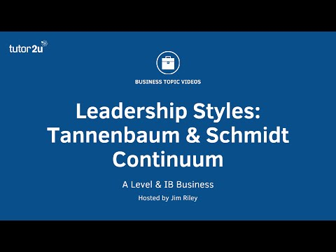 Leadership Styles: Tannenbaum & Schmidt Continuum