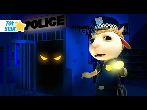 New 3D Cartoon For Kids ¦ Dolly And Friends ¦ Night In The Supermarket With Police And Kids Toy #121
