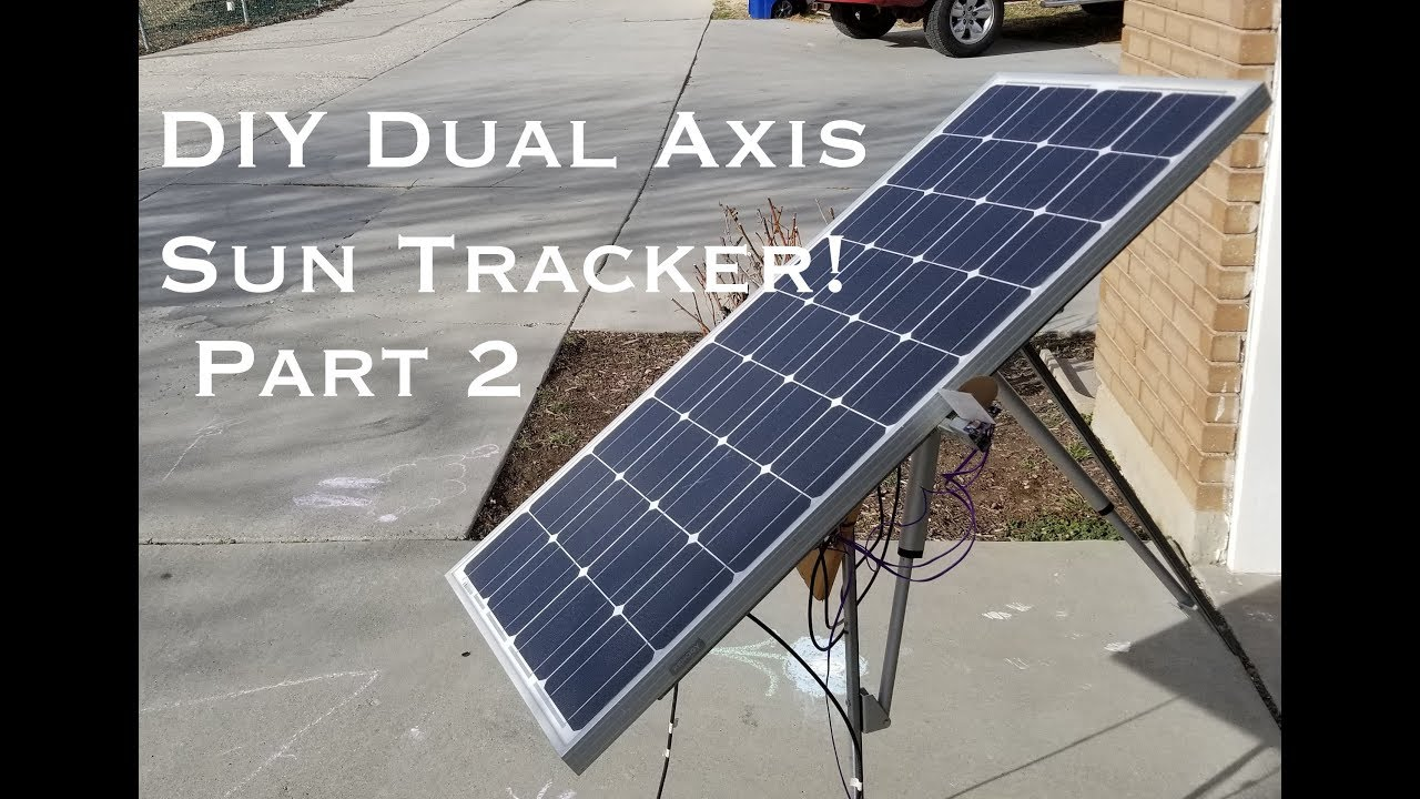 Dual Axis Sun Tracking Solar Panel Platform Part 2 of 2