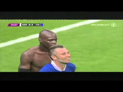 Euro 2012, semi-finals: Germany v Italy 1-2 (german commentary)