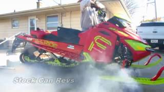 7. HPS Platinum Can Vs Stock 800 Etec Ski-Doo 16 Freeride Xm