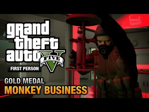 GTA 5 - Mission #54 - Monkey Business [First Person Gold Medal Guide - PS4]