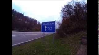 Ale zapie*dala! BMW lecące 300km/h widziane z perspektywy wiaduktu nad autostradą!