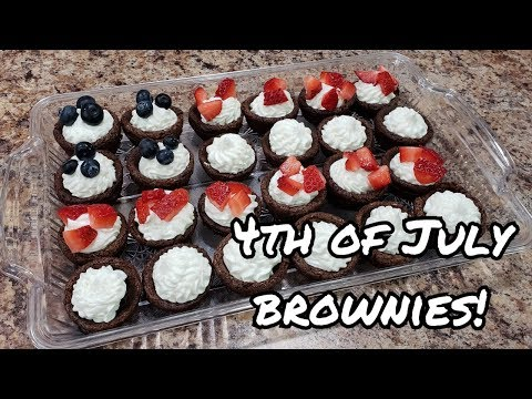 Delicious Brownie Cups! - What to bring to a Fourth of July barbecue - Bella Boo's Lunches
