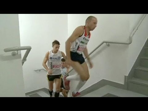 Australia take the top spot in international stair climbing competition - no comment