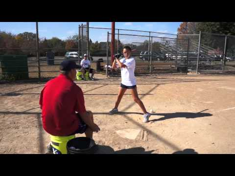 Soft Toss Fastpitch Hitting Drill