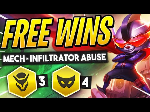 Abusing MECH INFILTRATOR for FREE WINS! | TFT Guide | Teamfight Tactics Set 3 Galaxies | LoL