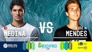 Gabriel Medina battles Jesse Mendes in Round Two, Heat 3 at the 2017 Oi Rio Pro in Brazil. Subscribe to the WSL for more action: https://goo.gl/VllRuj Watch all ...