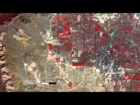 Nasa - Satellite View Of The Growth Of Vegas