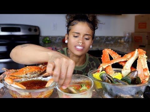 King Crab + Green Lipped Mussels SEAFOOD BOIL Mukbang - Thời lượng: 22 phút.