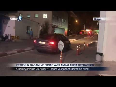 Konya'da  Fetö'nün Asker ve İşadamlarına