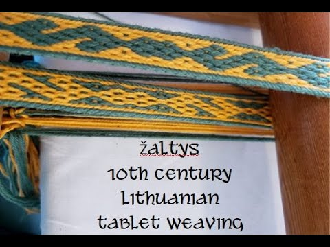 Weave Along with Elewys, Ep 15:  Zaltys 10th century Lithuanian
