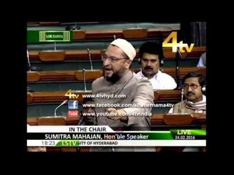 Asaduddin Owaisi In Parliament On Recent Incidents in JNU University Of Hyderabad