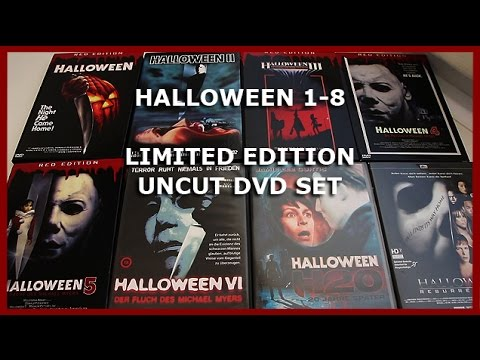 HALLOWEEN 1-8 - LIMITED UNCUT DVD SET UNBOXING - COMPLETE COLLECTION