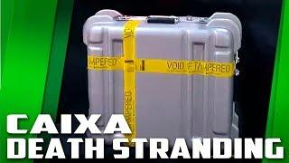 Ganhei uma caixa do Death Stranding em tamanho real, o que tem dentro?