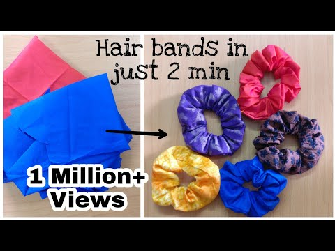 How To Make Hair Rubber Band At Home | Hair Scrunchine Tutorial| Diy | Hair Band From Old Clothes