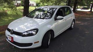 2010 Volkswagen Golf 4-Door Walkaround, Start Up, Exhaust, Test Drive
