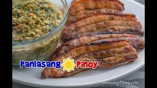 This video demonstrates one of my favorite meal pairings: Ginisang Monggo with Inihaw na Liempo (sauteed mung beans with grilled pork belly). In this video, I showed how to easily prepare sauteed mung beans with pork ang malunggay leaves and grilled pork belly with a simple marinade. Both dishes were tasty and delicious.