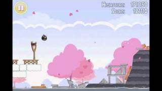 Angry Birds Seasons 3 star walkthrough for Hogs and Kisses level 1-4