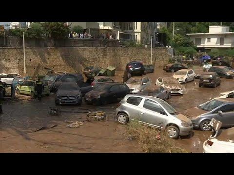 Πλημμύρες στην Αττική: Συγκλονιστικές εικόνες