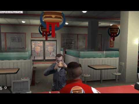 GTA IV vomiting after a burger