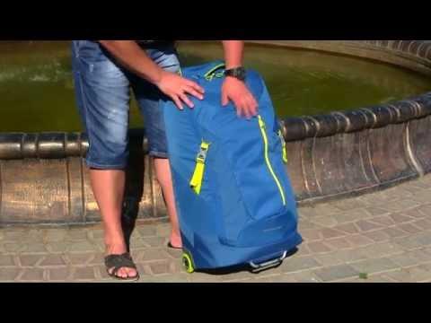 Відео огляд сумки-рюкзак на колесах Caribee Stratosphere 75 Sirius Blue