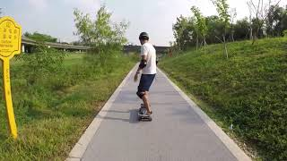 Fiboard by enSkate - Rider Carves Through Park (Demo)
